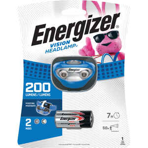 Energizer  200 lumens Blue  LED  Headlight  AAA Battery