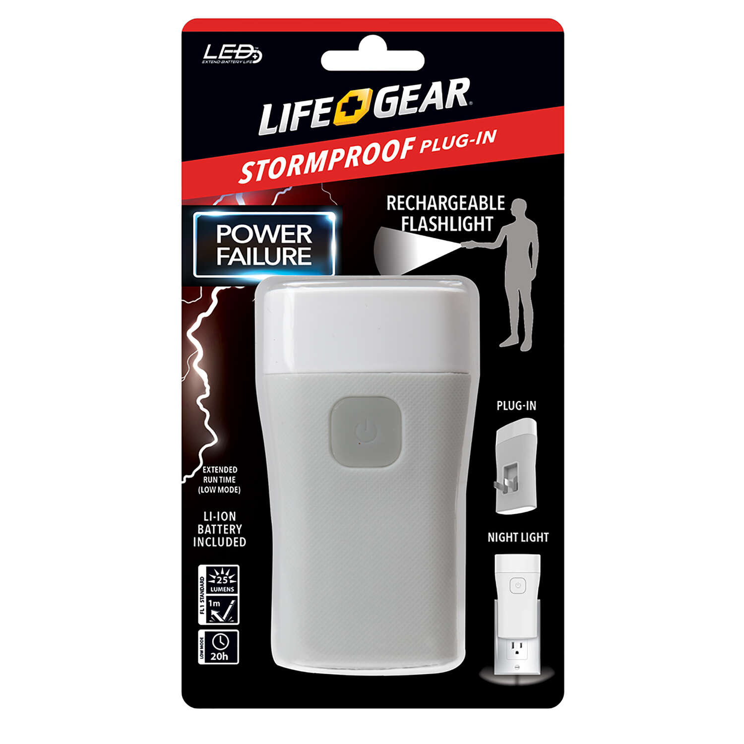 Life Gear 25 lumens White LED Flashlight