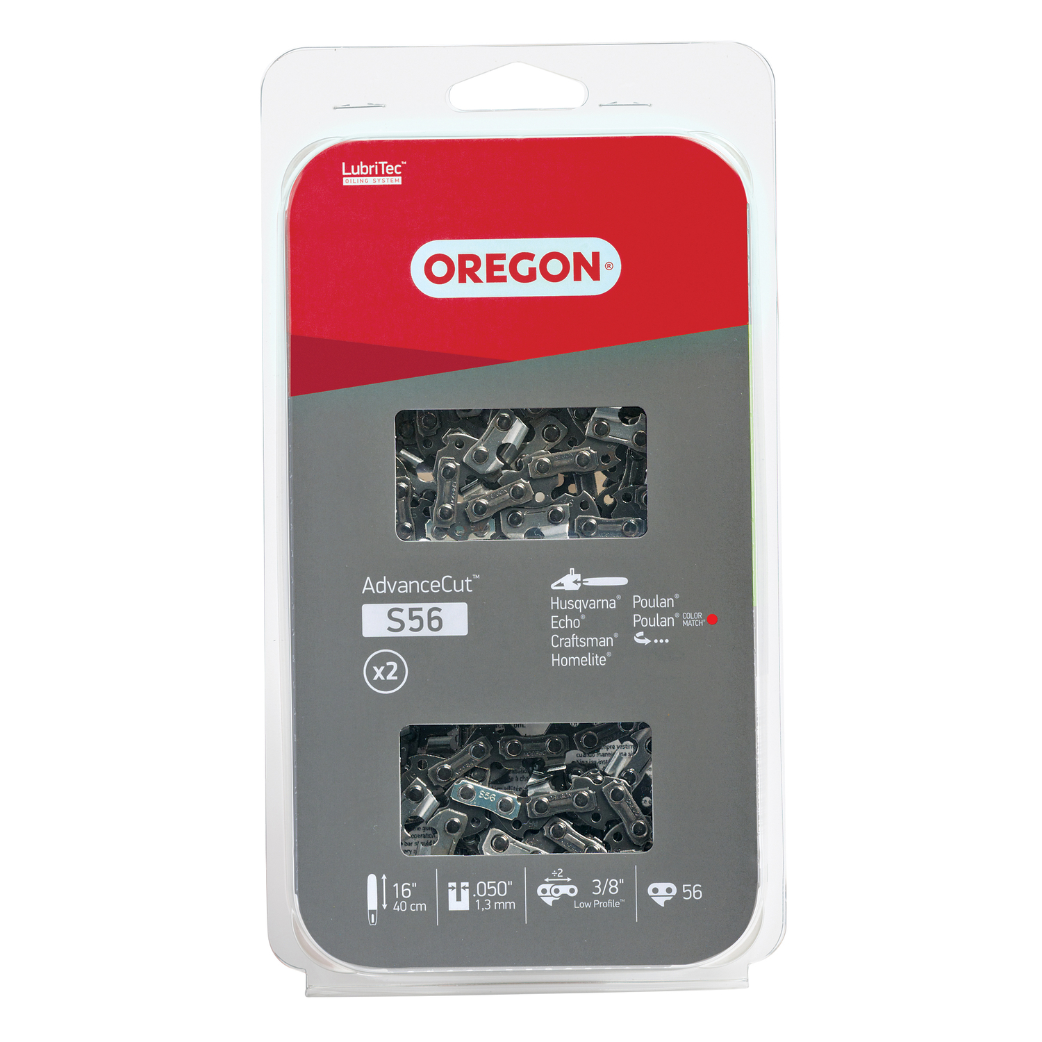 Oregon  Value Pack  16 in. L 56 links Chainsaw Chain
