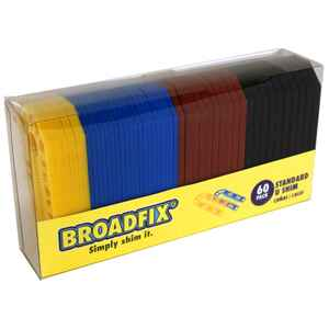 Broadfix  1.8 in. W x 8 in. L Plastic  U Shims  60 pk
