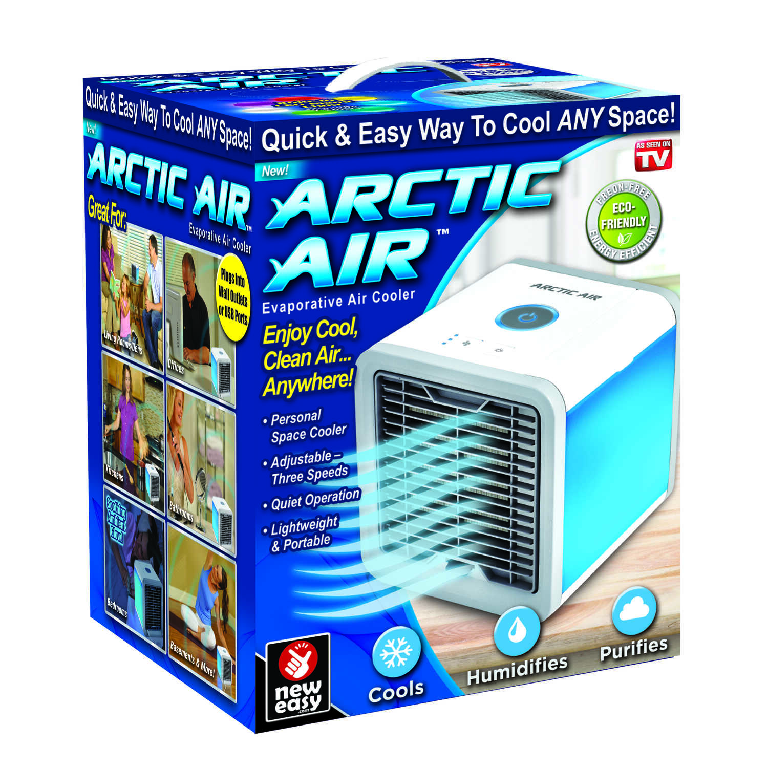 ARCTIC AIR As Seen On TV 45 sq. ft. Portable Air Conditioner - Ace ...