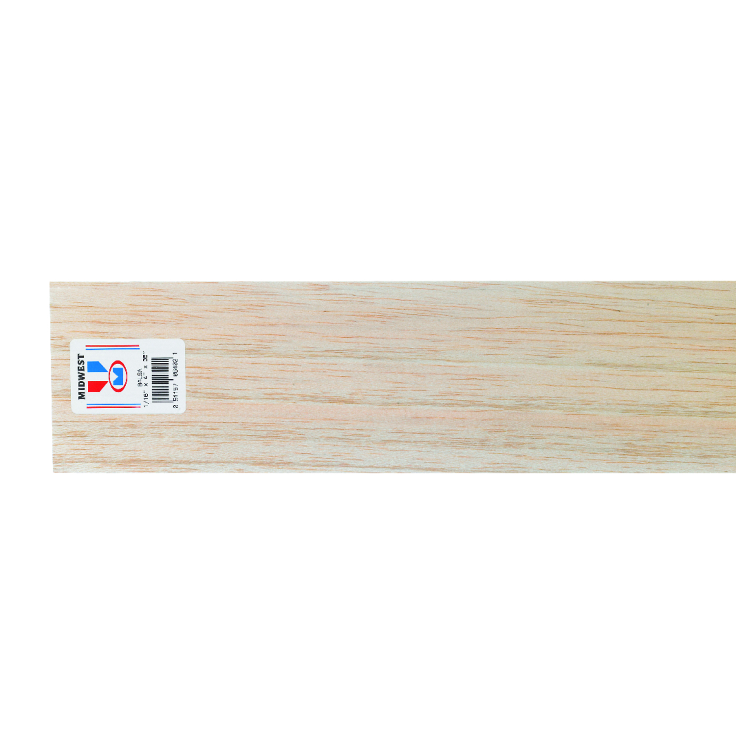 Midwest Products  4 in. W x 3 ft. L x 1/16 in.  Sheet  Balsawood