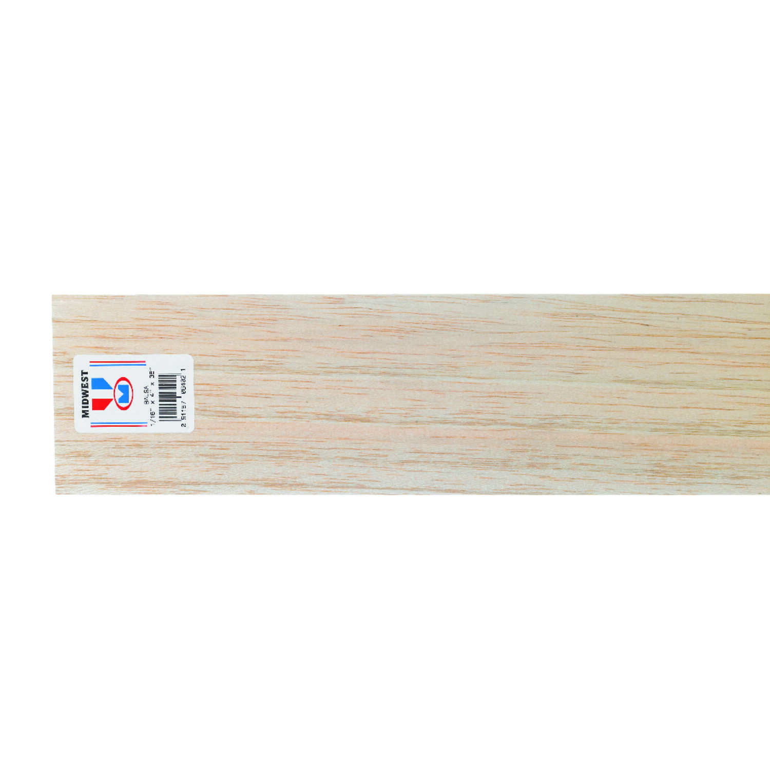 Midwest Products  4 in. W x 3 ft. L x 1/16 in.  Balsawood  Sheet