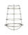 Westinghouse  Cylindrical  Nickel  Metal  Fan/Fixture Shade  1 pk
