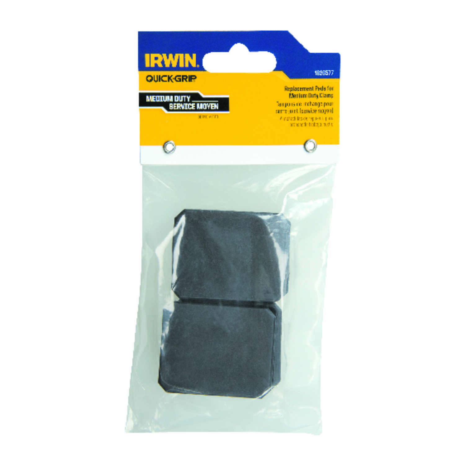 Irwin  Quick-Grip  Plastic  Replacement Pads  Black  4 pc.