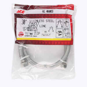 Ace  30 in. Braided Stainless Steel  Supply Line