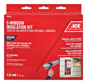 Ace  Outdoor  Window Film Insulator Kit  62 in. W x 210 in. L
