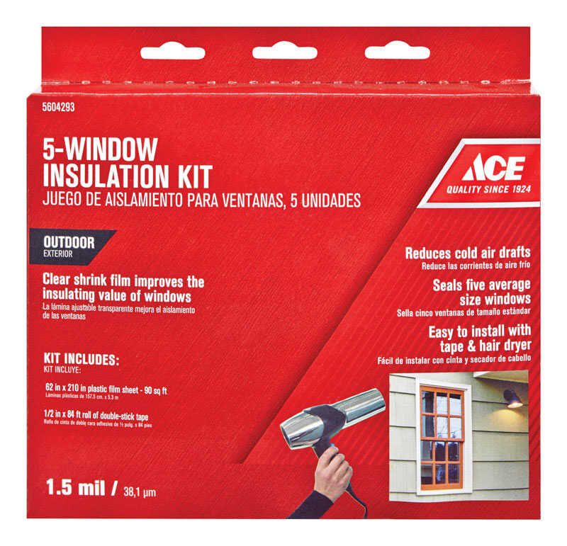 Ace  Outdoor  Window Film Insulator Kit  62 in. W x 210 ft. L