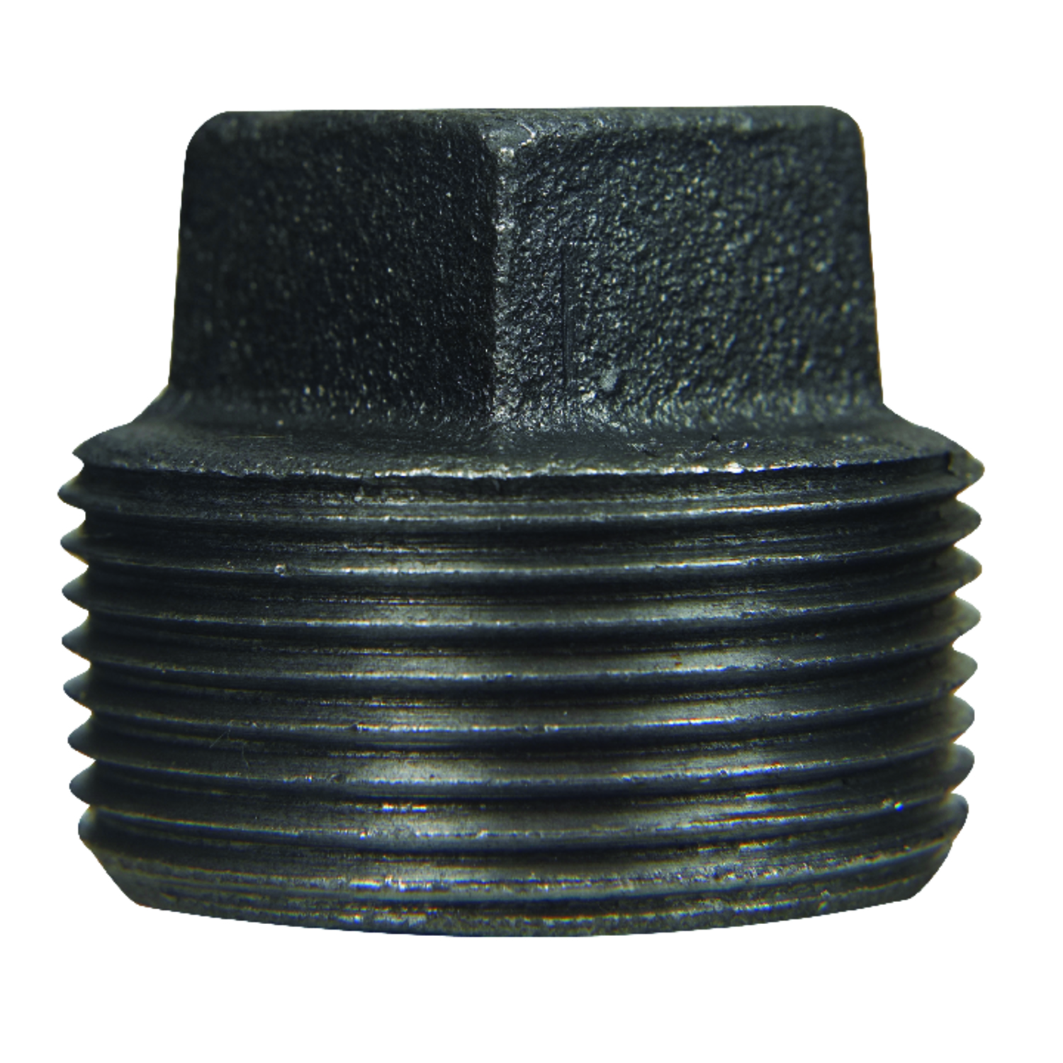 B & K  1-1/2 in. MPT   Black  Malleable Iron  Plug