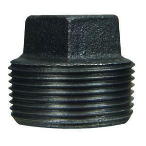 BK Products  1-1/2 in. MPT   Black  Malleable Iron  Plug