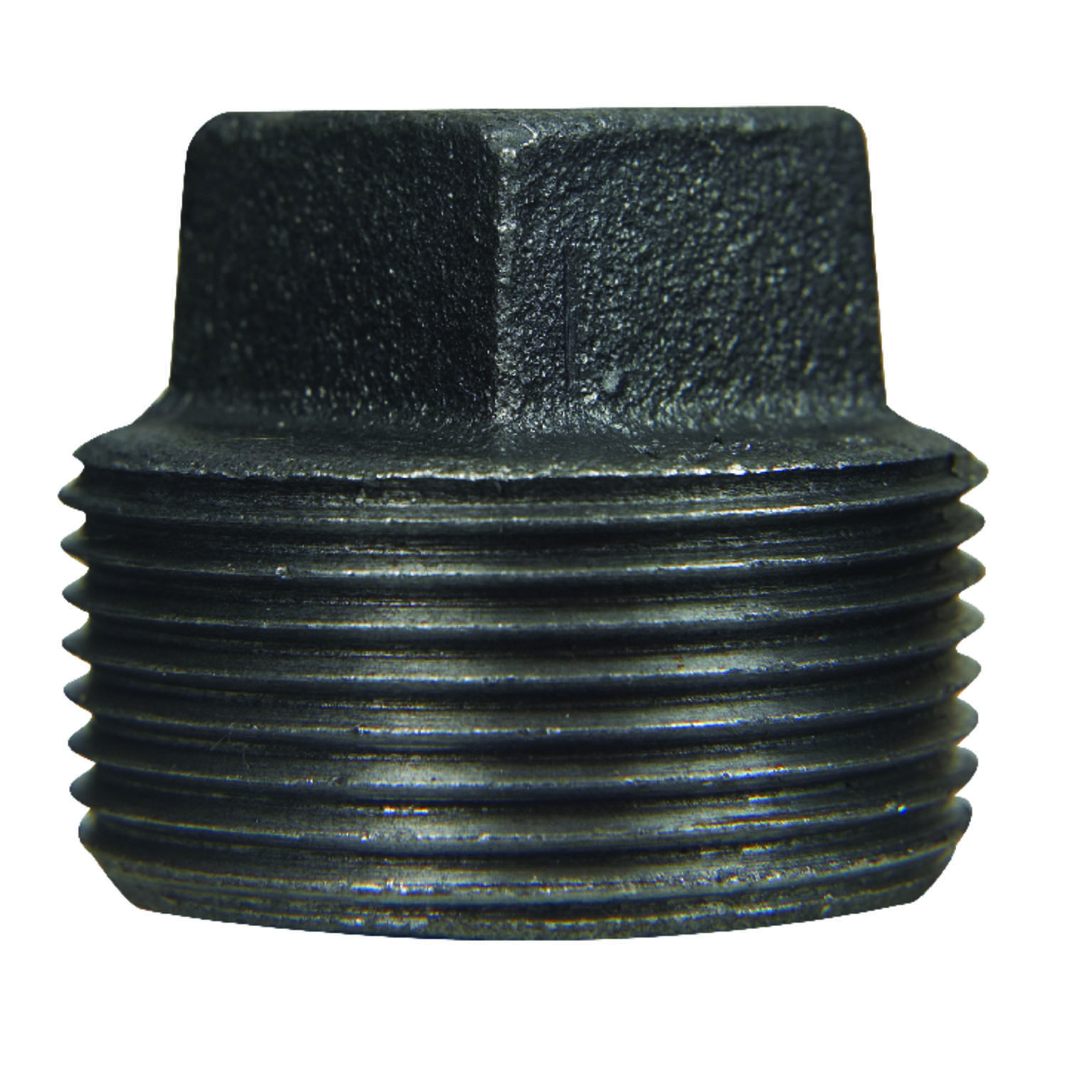 BK Products  1-1/2 in. MIP   Black  Malleable Iron  Square Head Plug