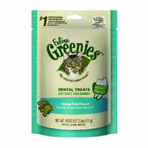 Greenies  Ocean Fish  Cat  Treats  1 pk 2.5 oz.