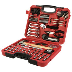 Performance Tool Home and Auto Tool Set Red 107 pc.