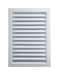 Master Flow 12 in. W x 18 in. L White Plastic Wall Louver