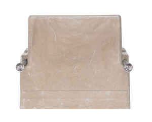 Allied Moulded  3-3/4 in. Rectangle  Fiberglass  1 gang Outlet Box  Beige/Tan