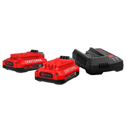 Craftsman  20V MAX  20 volt 2 Ah Lithium-Ion  Battery and Charger Starter Kit  3 pc.