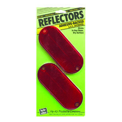 Hy-Ko Round Red Reflectors 2 pk