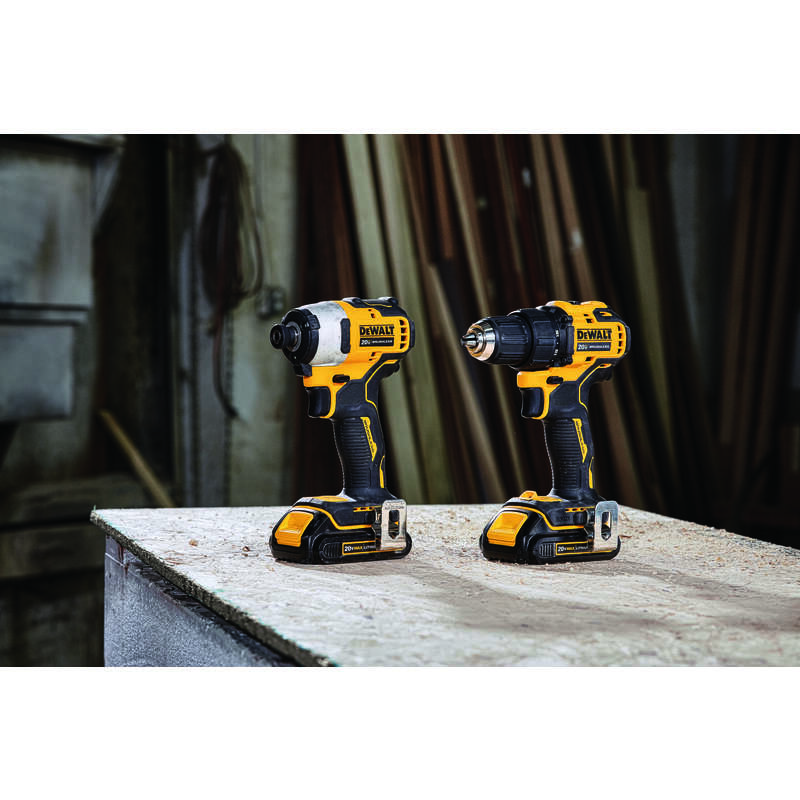 DeWalt  Brushless 2 tools Compact Drill and Impact Driver Kit  20 max volts Cordless