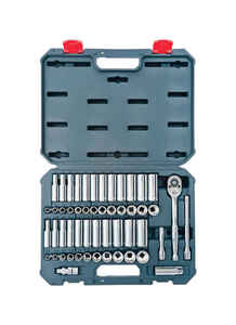 Crescent  3/8 in.  Metric and SAE  6 and 12  Socket Wrench Set  52 pc.