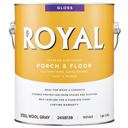Royal  Gloss  Steel Wool Gray  Porch & Floor Alkyd Enamel  1 gal.