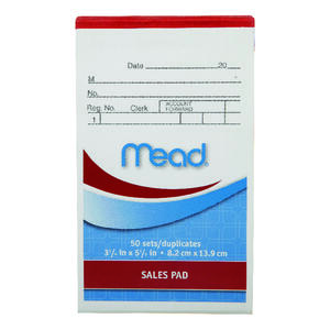 Mead  3-1/4 in. W x 5-7/8 in. L Sales Pad with Duplicates
