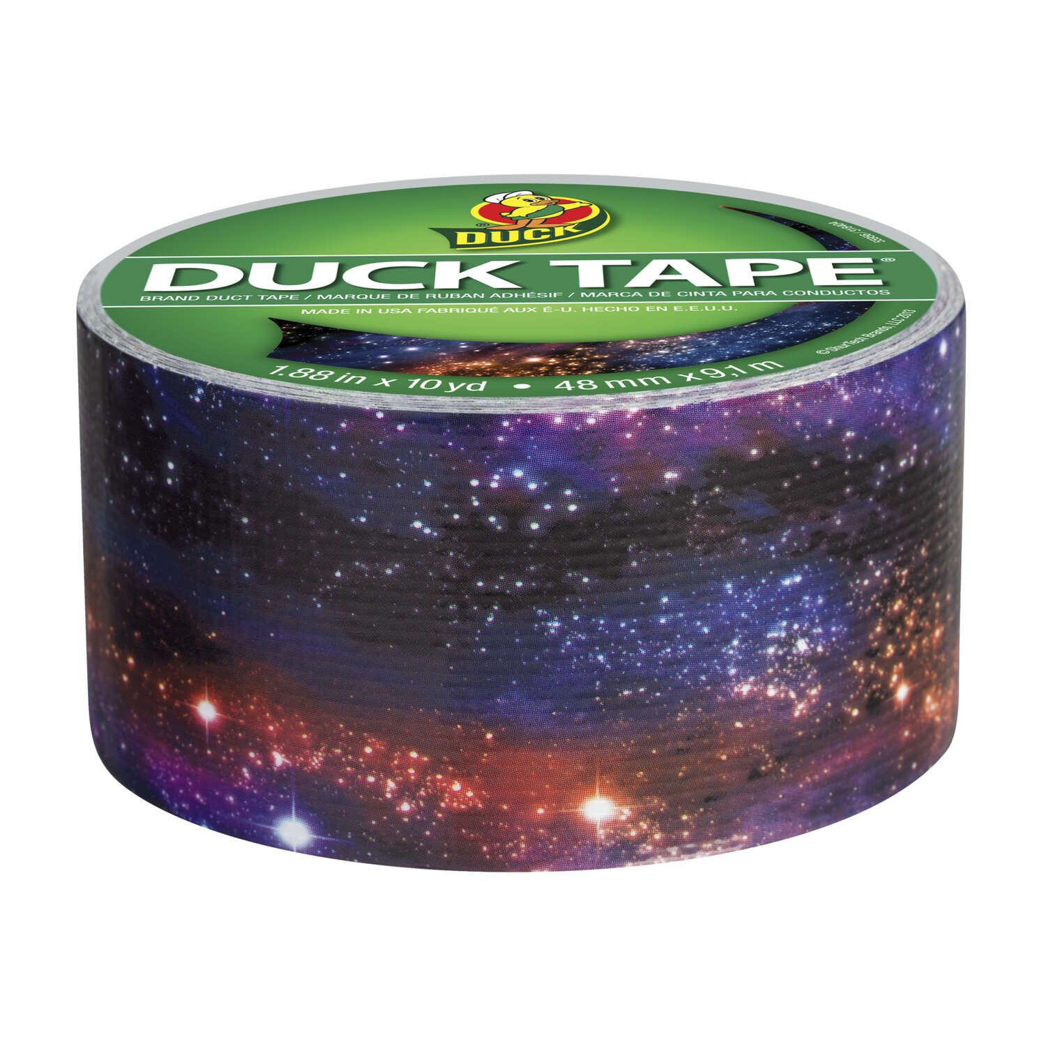 Duck Brand  30 ft. L x 1.88 in. W Multicolored  Galaxy  Duct Tape