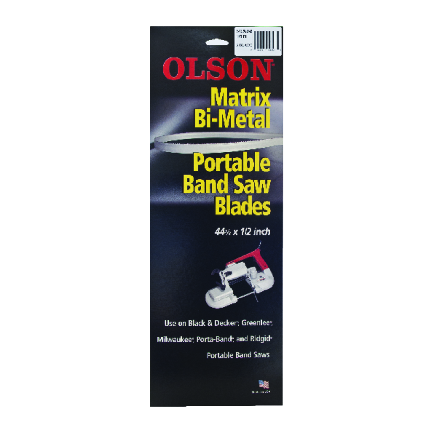 Olson  44.9  L x 0.02 in.  x 0.5 in. W Bi-Metal  18 TPI Regular  1 pk Portable Band Saw Blade