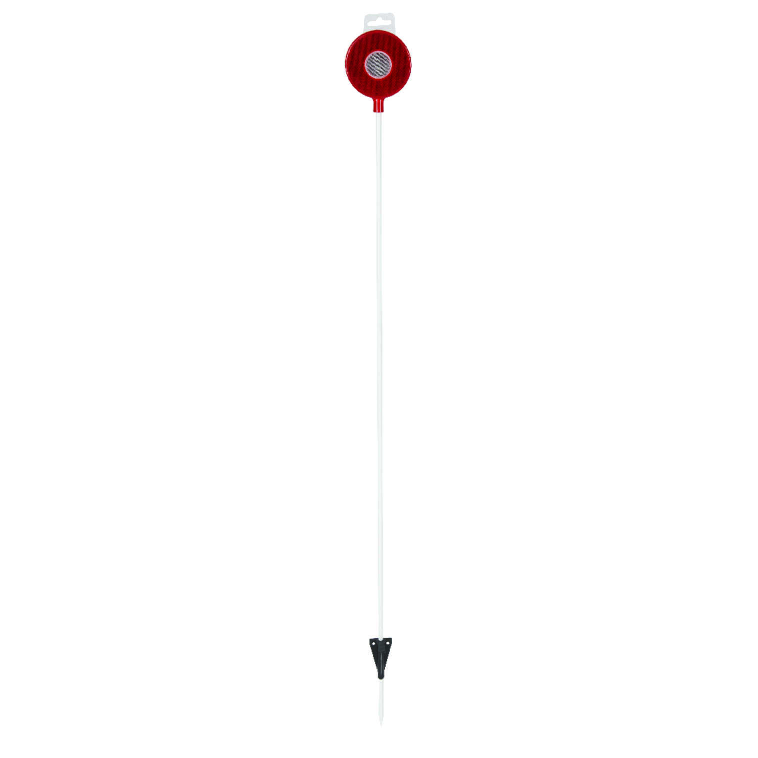 Nuvue  46 in. Round  Red/White  30  Driveway Marker