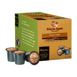 Keurig  Gloria Jeans  Butter Toffee Medium  Coffee K-Cups  18 pk