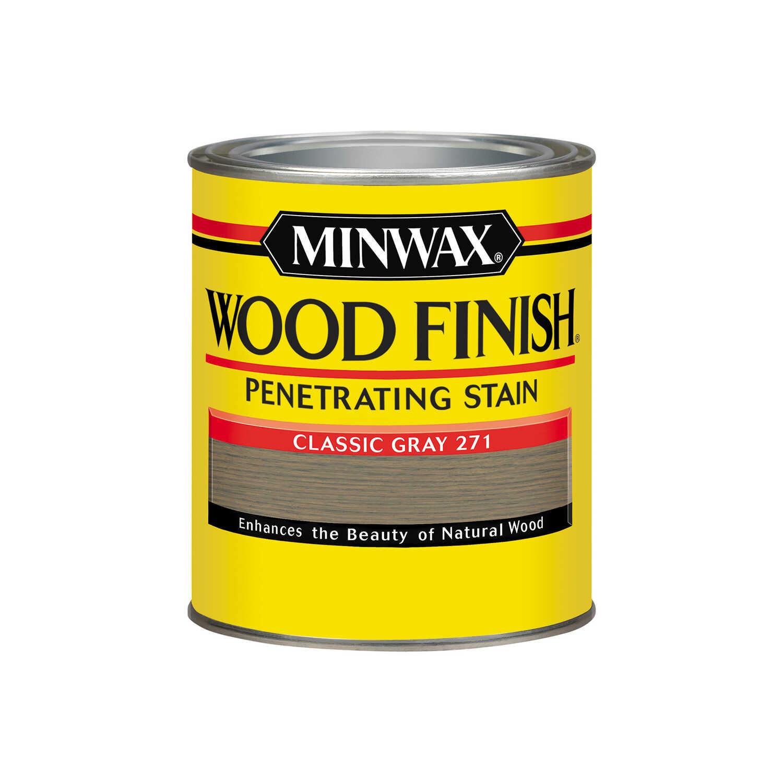 Minwax wood finish semi transparent classic gray oil based oil wood stain