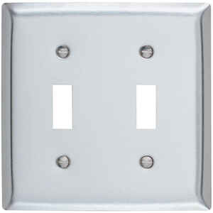 Pass & Seymour  Silver  2 gang Stainless Steel  Wall Plate  1 pk Toggle