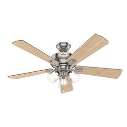 Hunter Fan  Crestfield  52 in. Brushed Nickel  Indoor  Ceiling Fan