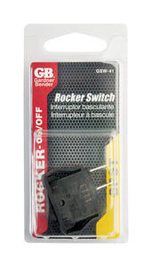 Gardner Bender  Rocker  Switch  Black  1 pk