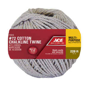 Ace  1/8 in. Dia. x 220 ft. L Twisted  Cotton  Cord  Natural