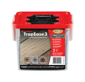 FastenMaster  TrapEase 3  No. 10   x 2-1/2 in. L Torx TTAP  Flat Head Epoxy  Carbon Steel  Composite