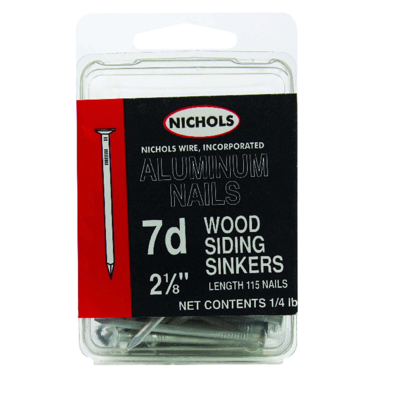 Nichols Wire 7D 2-1/8 in. L Siding Aluminum Nail Sinker Head Round ...