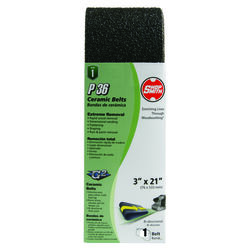 Shopsmith  21 in. L x 3 in. W Ceramic  Sanding Belt  36 Grit Coarse  1 pc.