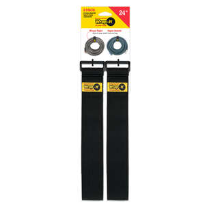 Wrap-It  2 in. W x 24 in. L Stretch Storage Straps  10 lb. 2 pk Black