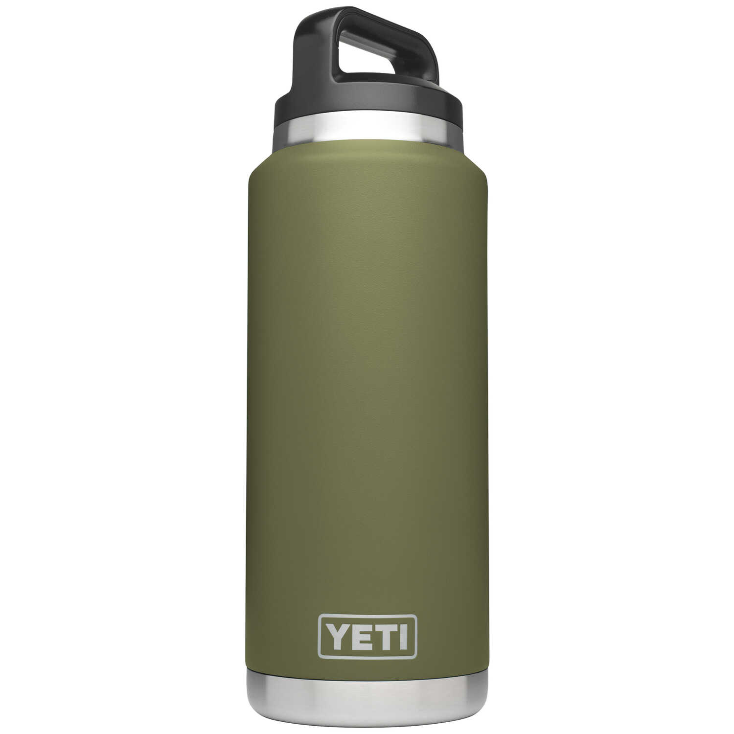 YETI  Rambler  Olive Green  Stainless Steel  Insulated Bottle  BPA Free 36 oz.