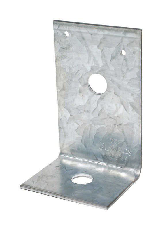 Simpson Strong-Tie  2 in. H x 3.9 in. W x 2.5 in. L Galvanized Steel  Angle