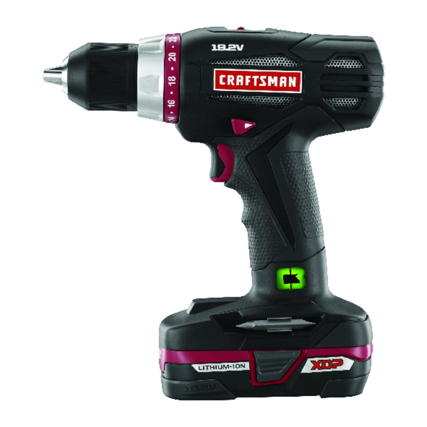 Craftsman  C3  19.2 volts 1/2 in. Brushless Cordless Drill  Kit 1600 rpm 2