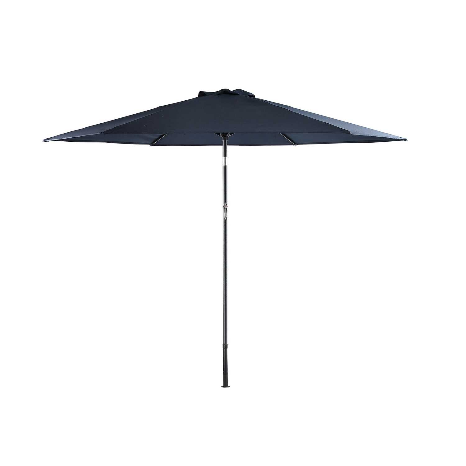Living Accents  Fair Oaks  9 ft. Tiltable Blue  Market Umbrella