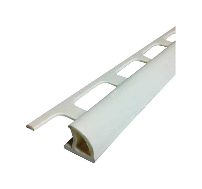 M-D Building Products  96 in. L Prefinished  White  PVC  Bullnose