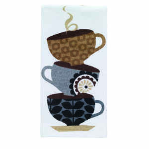 T-Fal  Multi  Cotton  Coffee Cups  Kitchen Towel  1 pk