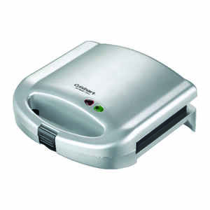 Cuisinart  9 in. W Stainless Steel  Nonstick Surface Sandwich Grill