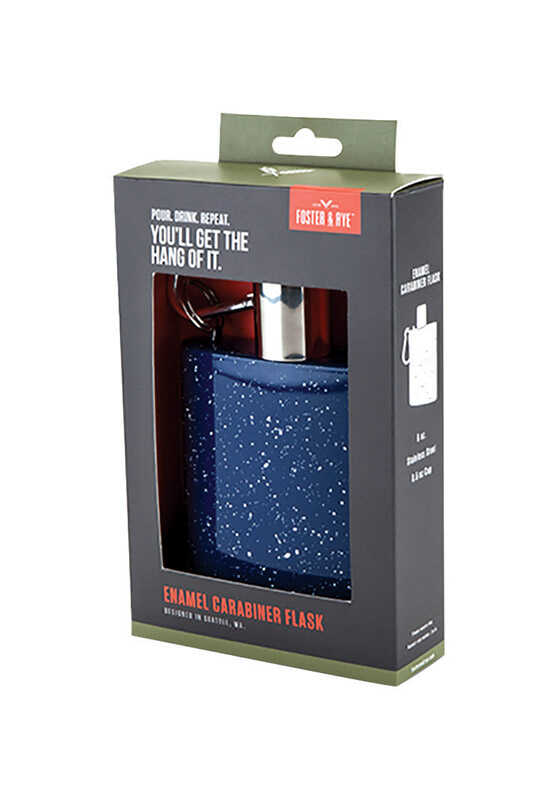 Foster & Rye  6 oz. Multicolored  Flask  Stainless Steel