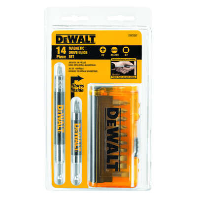DeWalt  Drive Guide Bit Set  Heat-Treated Steel  14 pc.