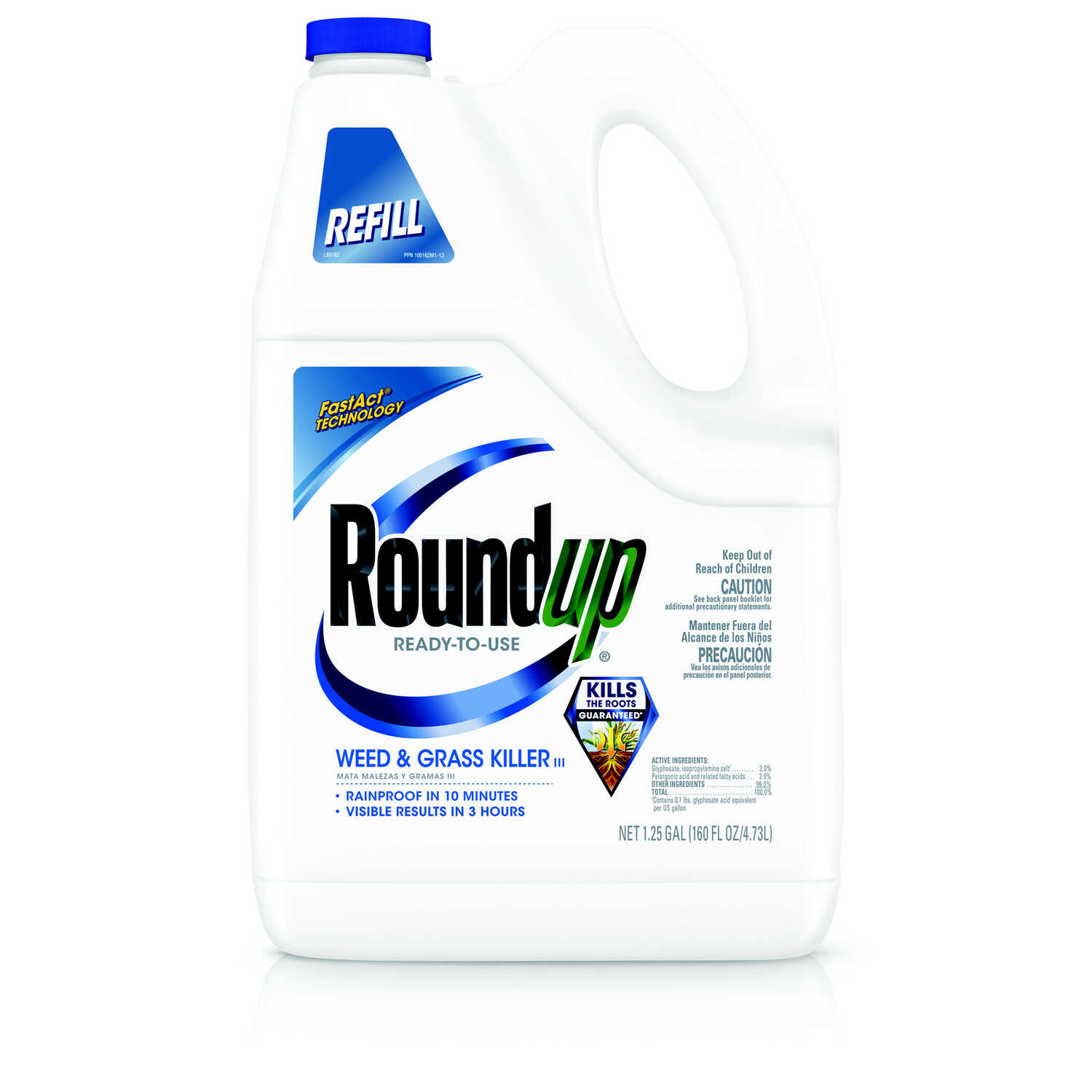 Roundup  Refill  Weed and Grass Killer  RTU Liquid  1.25 gal.