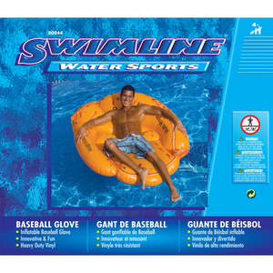 Swimline  Brown  Orange  Vinyl  Inflatable Pool Float