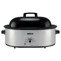 Nesco Silver Stainless Steel 18 qt. Electric Roaster 17.5 in. H x 9.2 in. W x 25.4 in. L